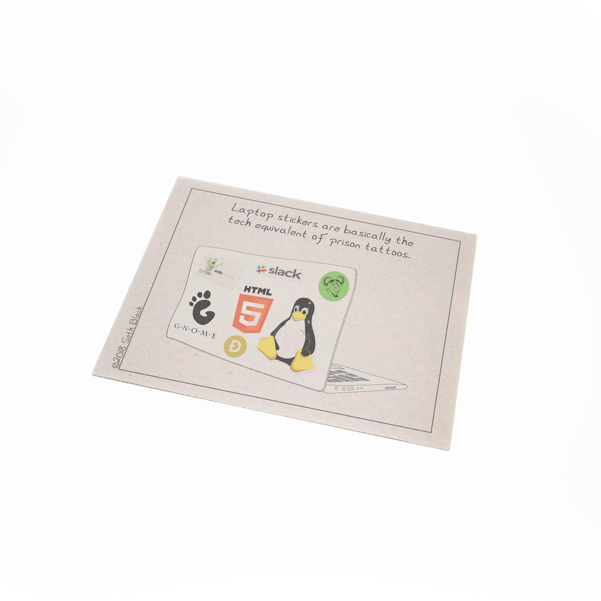 Laptop Stickers Newsprint Regular Newsprint