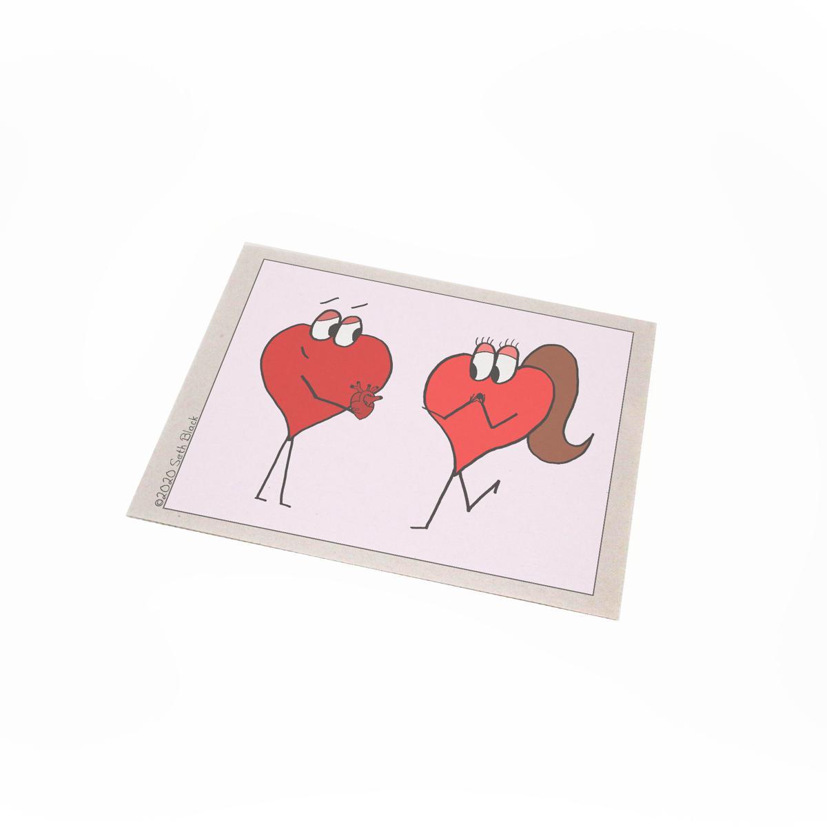 Heart Giving Heart - Valentine's Day 2020 Newsprint Regular Newsprint