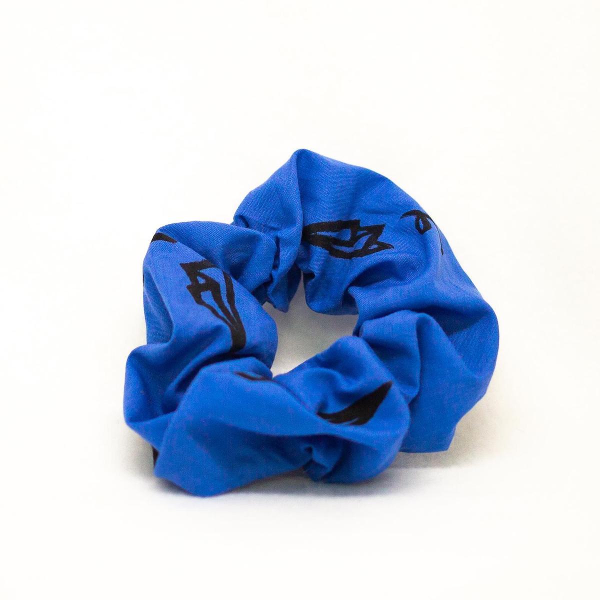 Paper Airplane Scrunchie Regular Blue