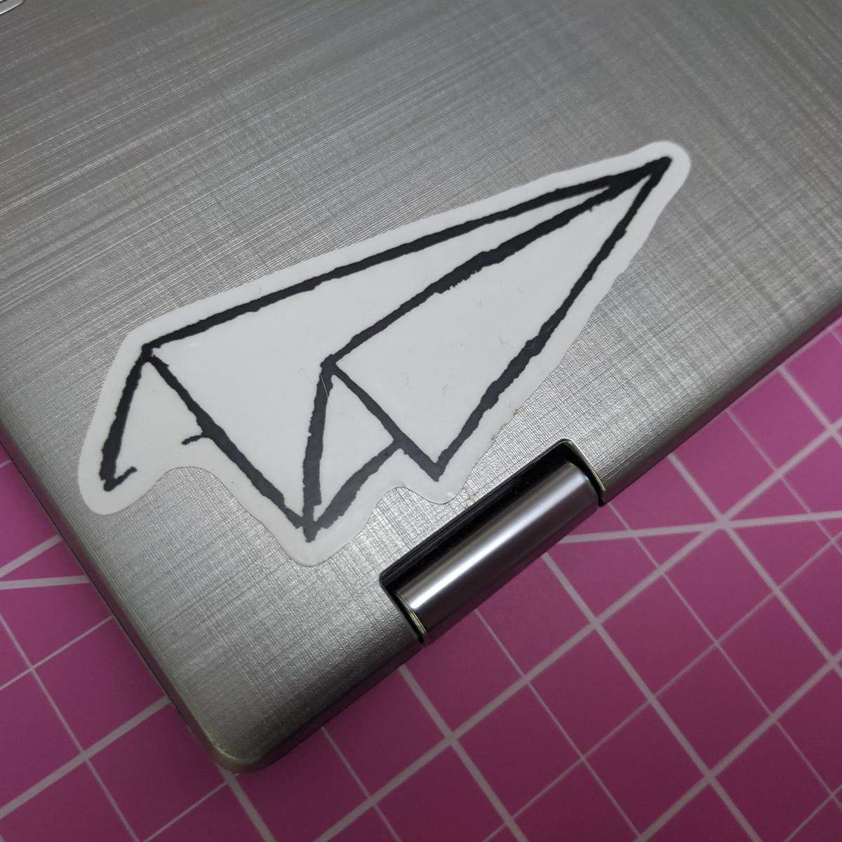 Airplane Sketch Sticker Featured