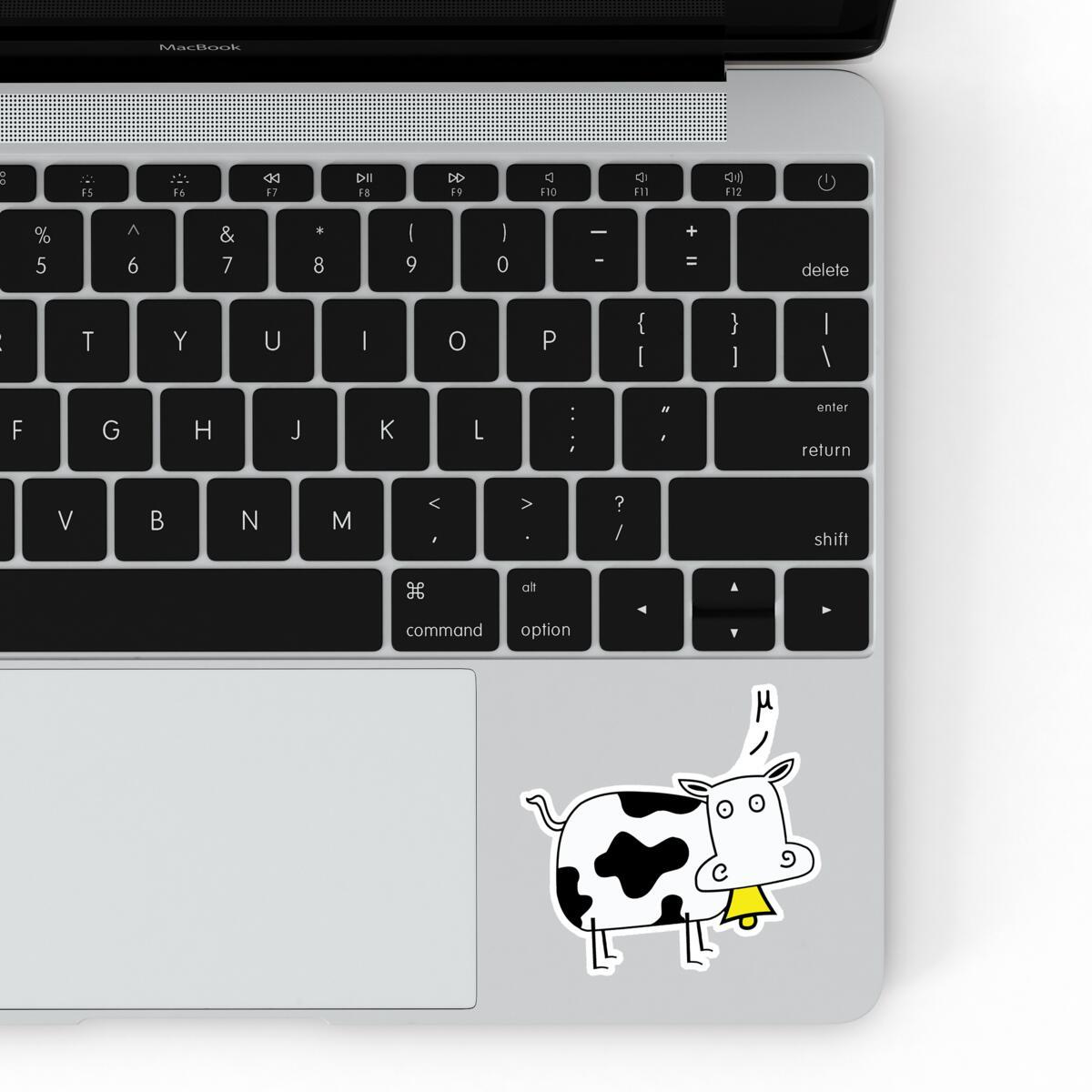 Mu Cow Sticker Featured